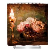 Roses By Candlelight Shower Curtain