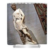 Rossellino's The David Of The Casa Martelli Shower Curtain