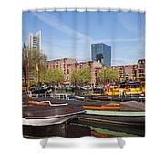 Rotterdam Cityscape In Netherlands Shower Curtain