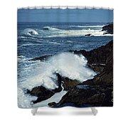 Rough Surf Shower Curtain