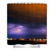 Round 2 More Late Night Servere Nebraska Storms Shower Curtain