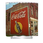 Route 66 - Coca Cola Ghost Mural Shower Curtain
