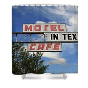 Route 66 - Glenrio Texas Shower Curtain