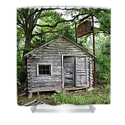 Route 66 - John's Modern Cabins Shower Curtain