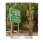 Route 66 - Kingman Arizona Shower Curtain