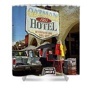 Route 66 - Oatman Arizona Shower Curtain