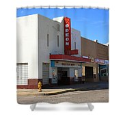 Route 66 - Odeon Theater Shower Curtain