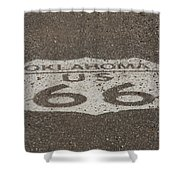 Route 66 - Oklahoma Shield Shower Curtain