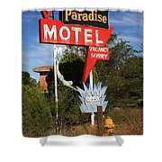 Route 66 - Paradise Motel Shower Curtain