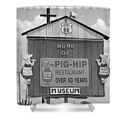 Route 66 - Pig-hip Restaurant Shower Curtain