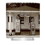 Route 66 - Soulsby Station Pumps Shower Curtain