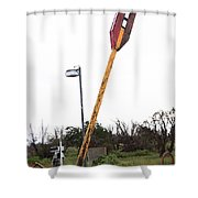 Route 66 - Twin Arrows Trading Post Shower Curtain