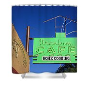 Route 66 - Uranium Cafe Shower Curtain