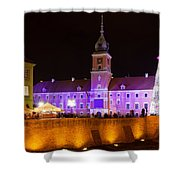 Royal Castle In Warsaw At Night Shower Curtain