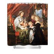 Rubens' Deborah Kip -- Wife Of Sir Balthasar Gerbier -- And Her Children Shower Curtain