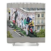 Rugby In Paris Shower Curtain