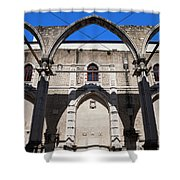 Ruins Of Carmo Convent In Lisbon Shower Curtain