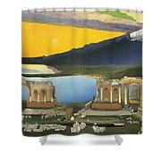 Ruins Of The Greek Theatre At Taormina Shower Curtain
