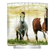 Running Wild Shower Curtain