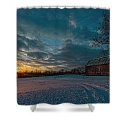 Rural Sunset II Shower Curtain