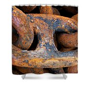 Rusty Steel Chain Detail Shower Curtain
