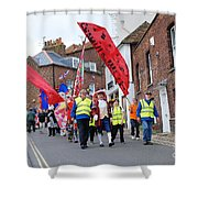 Rye Olympic Torch Relay Parade Shower Curtain