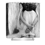 Sad Angel Woman Shower Curtain