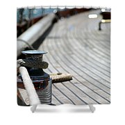 Sail Boat Rope Shower Curtain