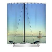 Sail Catamaran Shower Curtain