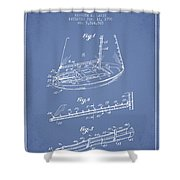 Sailboat Patent From 1996 - Vintage Shower Curtain