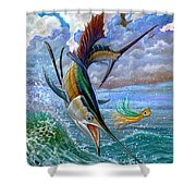 Sailfish And Lure Shower Curtain