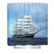 Sailing Ship Shower Curtain by Anonymous