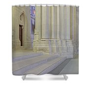 Saint John The Divine Cathedral Columns Shower Curtain