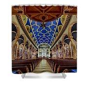 Saint Michael Church Shower Curtain by Susan Candelario