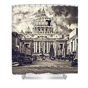 Saint Peters Basilica Rome Shower Curtain