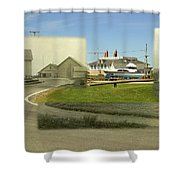 Sakonnet Point In Little Compton Rhode Island Shower Curtain