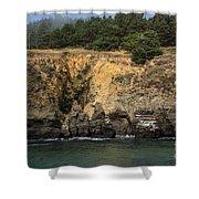 Salt Point Cliffs Shower Curtain