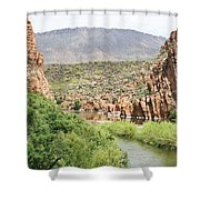 Salt River Above Roosevelt Lake Shower Curtain