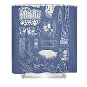 Salwater Algae Shower Curtain