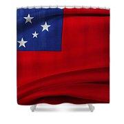 Samoan Flag Shower Curtain