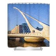 Samuel Beckett Bridge Dublin Shower Curtain