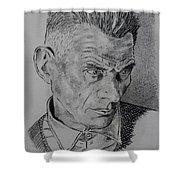Samuel Beckett Shower Curtain