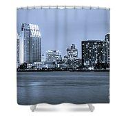San Diego At Night Shower Curtain