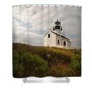 San Diego Lighthouse Shower Curtain