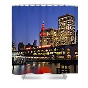 San Francisco Ferry Terminal - California, Usa Shower Curtain