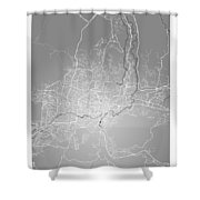 San Salvador Street Map - San Salvador El Salvador Road Map Art  Shower Curtain