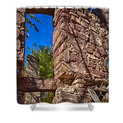 Sandstone Arch Jerome Black And White Shower Curtain