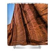 Sandstone Varnish Cliff - Coyote Gulch - Utah Shower Curtain