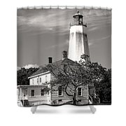 Sandy's Mark Bw Shower Curtain