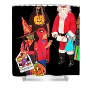 Santa Trick Or Treaters Halloween Party Casa Grande Arizona 2005 Shower Curtain